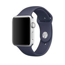 Siliconen band Apple compatible midnight blue