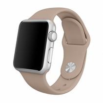 Siliconen band Apple compatible walnut