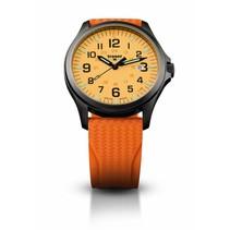 P67 Officer Pro Gun Metal Orange - horloge - lichtgevende wijzerplaat - Ø 42 mm