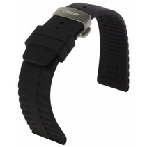 Siliconen horlogeband met vouwsluiting 22 mm