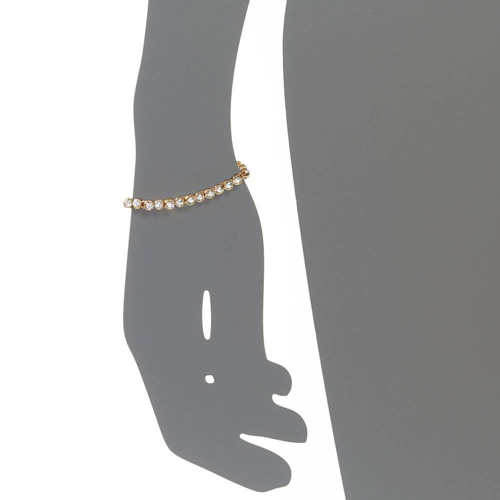 Tennisarmband, weiß - Gelbgold vergoldet