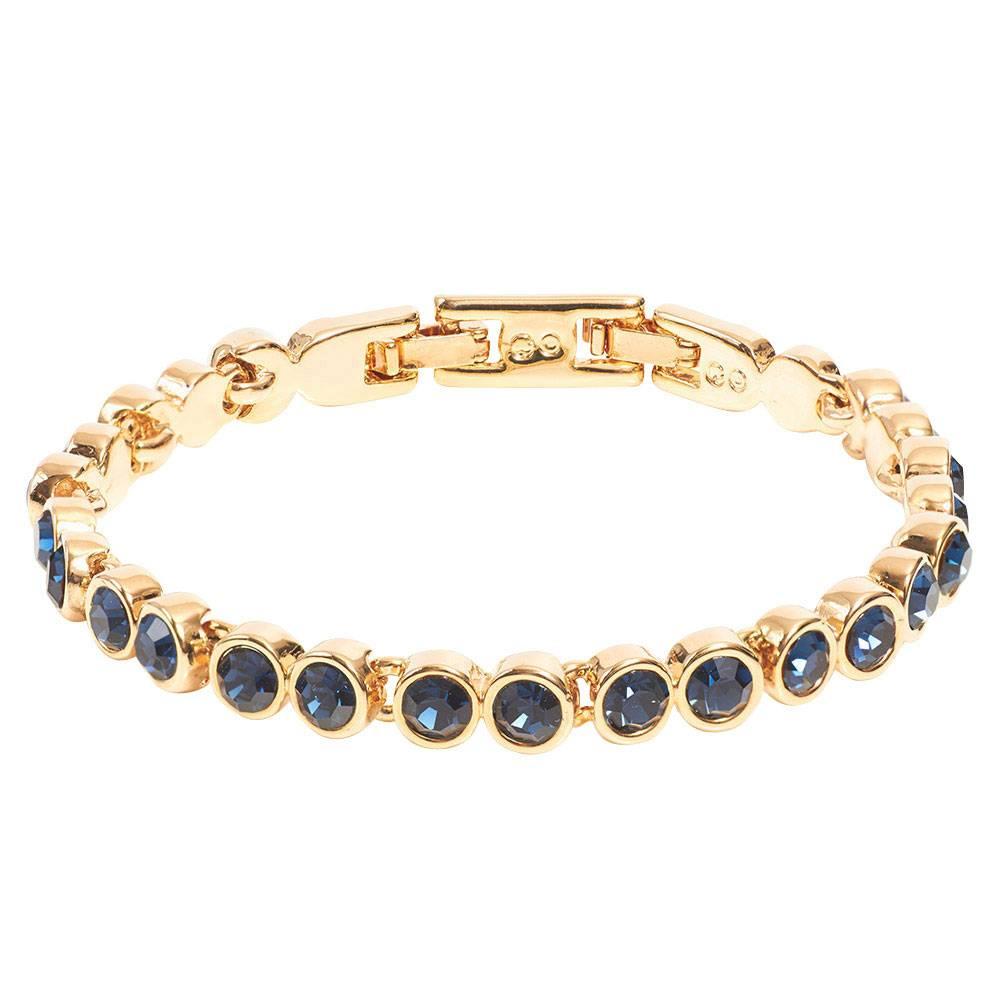 Tennisarmband gold/dunkelblau