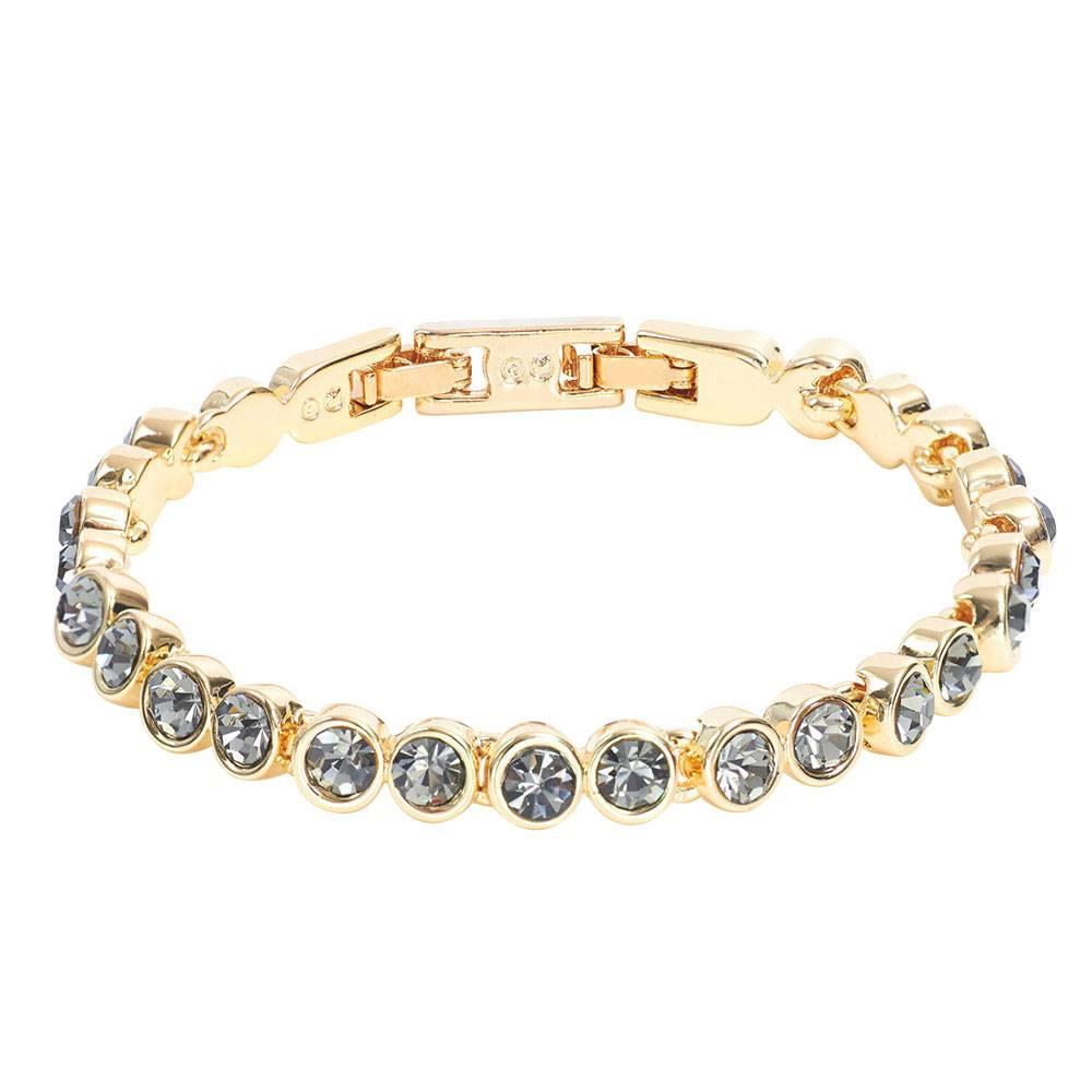 Stella-Bijou Tennisarmband gold/grau