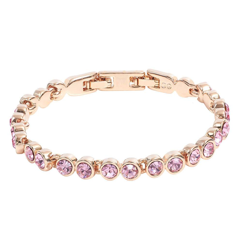 Stella-Bijou Tennisarmband rosa