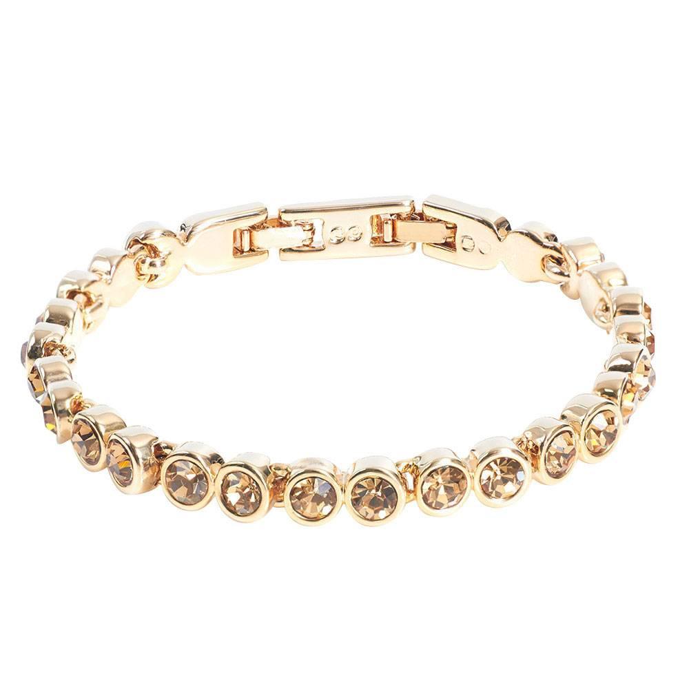 Stella-Bijou Tennisarmband gold/topas