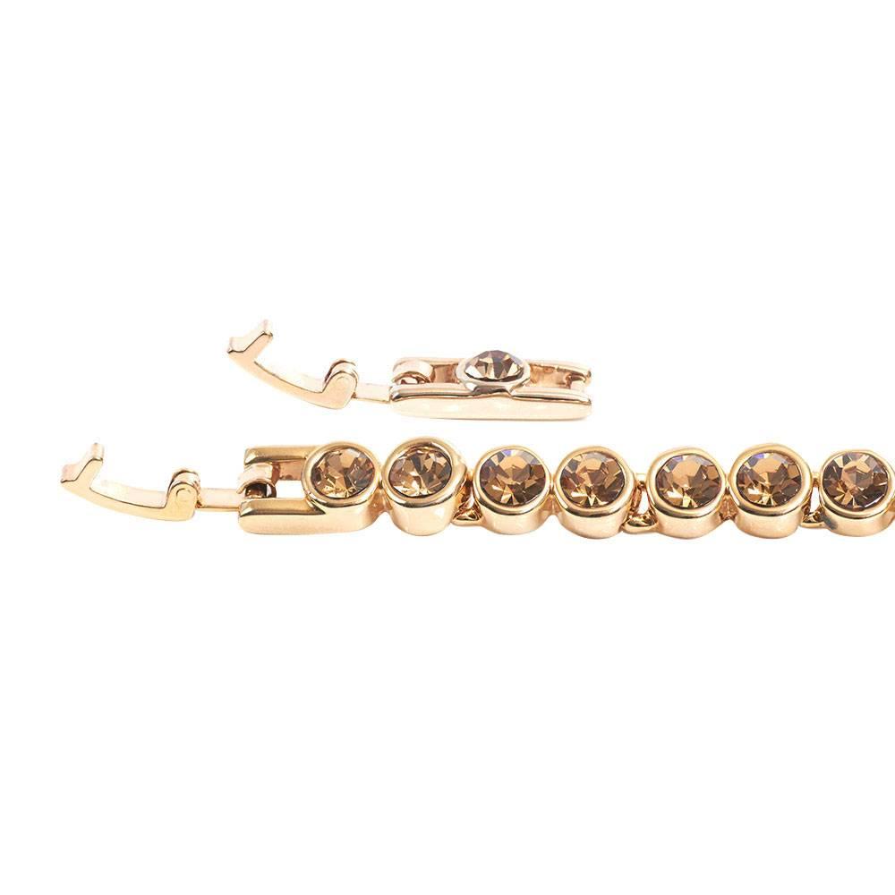 Stella-Bijou Tennisarmband, hell Topas - Gelbgold vergoldet