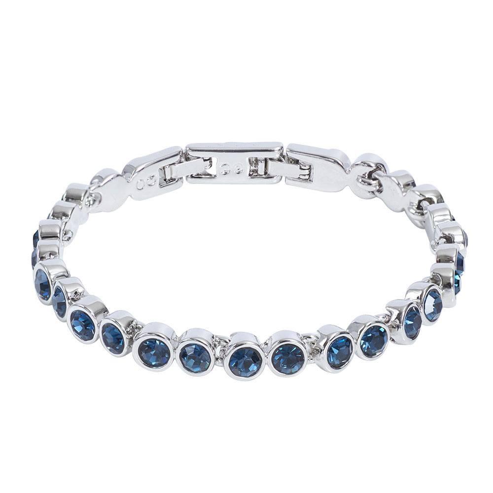 Stella-Bijou Tennisarmband dkl.blau