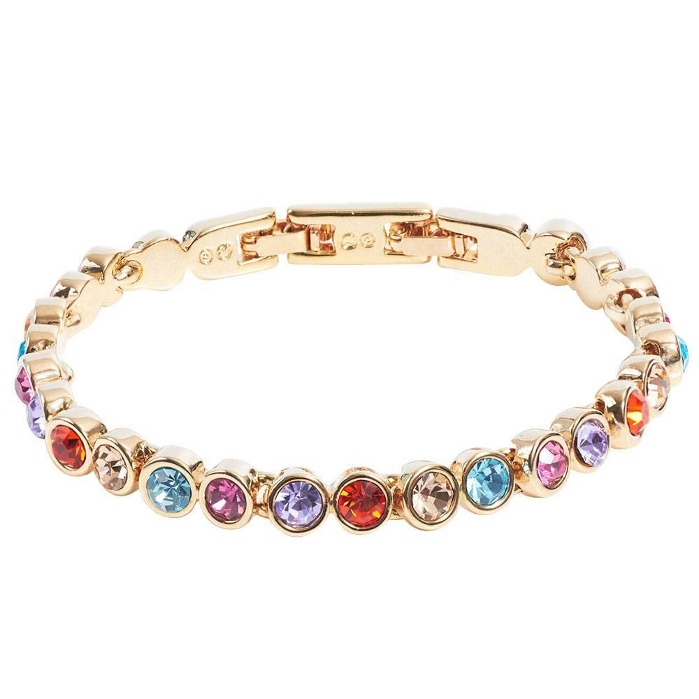 Stella-Bijou Tennisarmband gold/multicolor