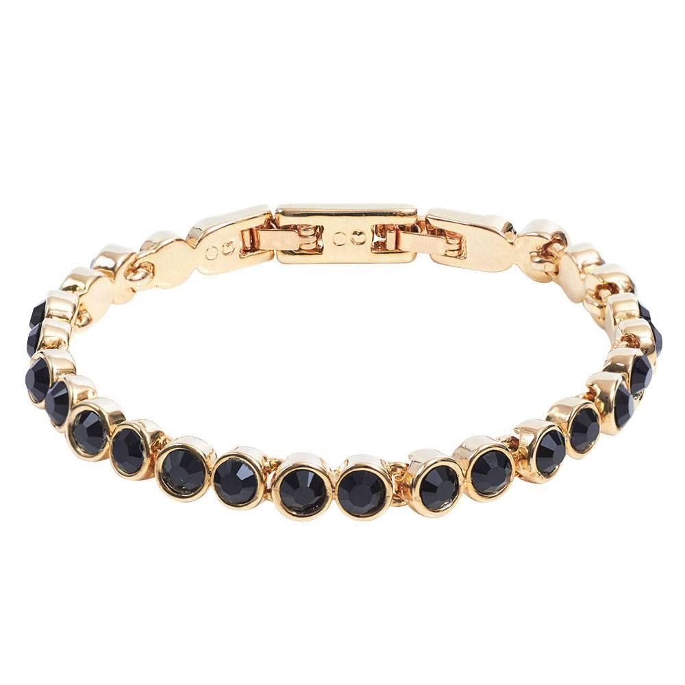 Stella-Bijou Tennisarmband gold/schwarz