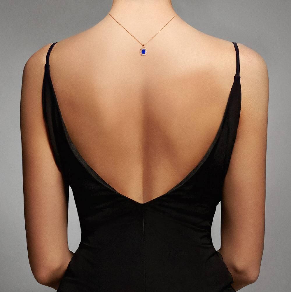 Cesar's Halskette Blue Velvet, rosé