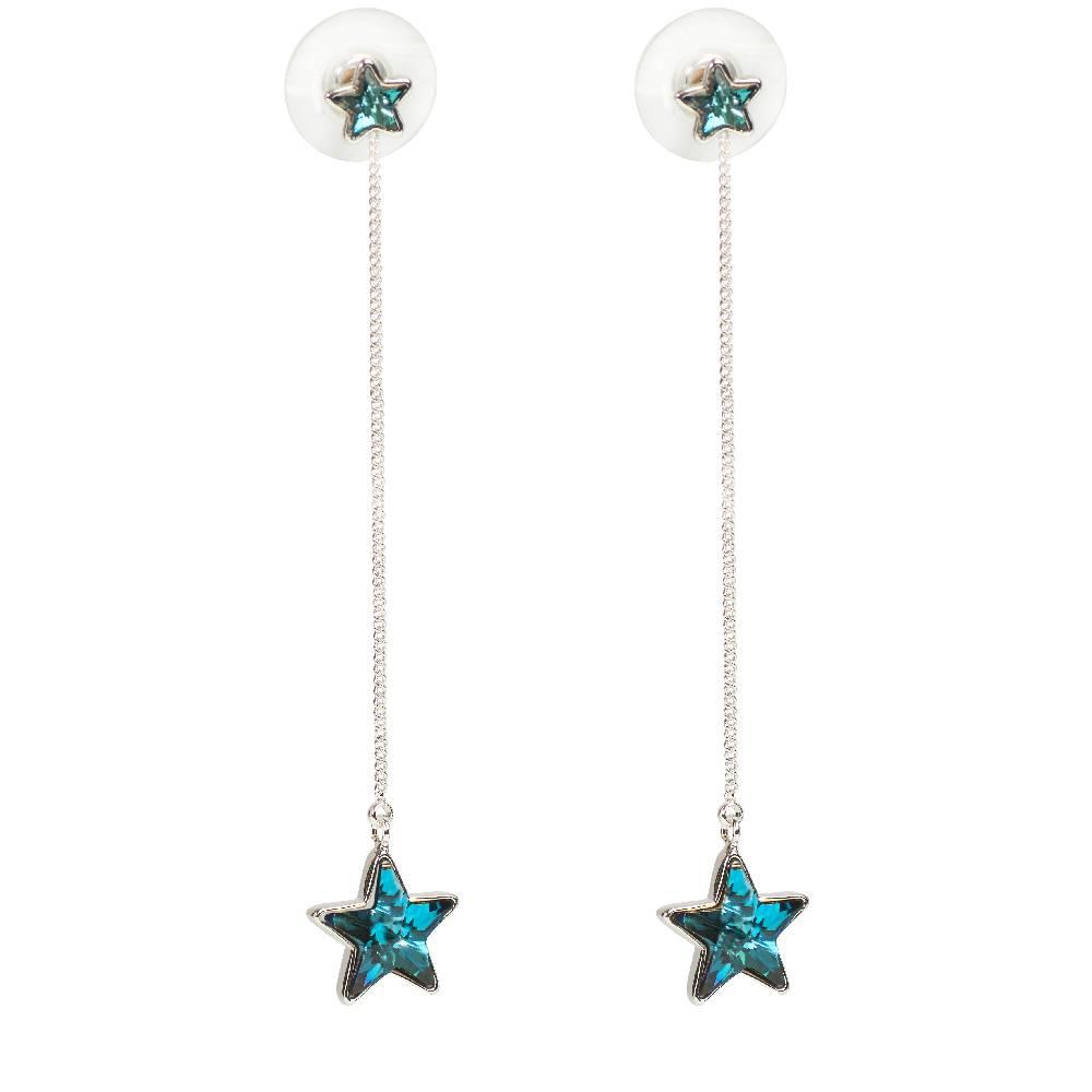 DEMI Collection Ohrring Long Star, blau
