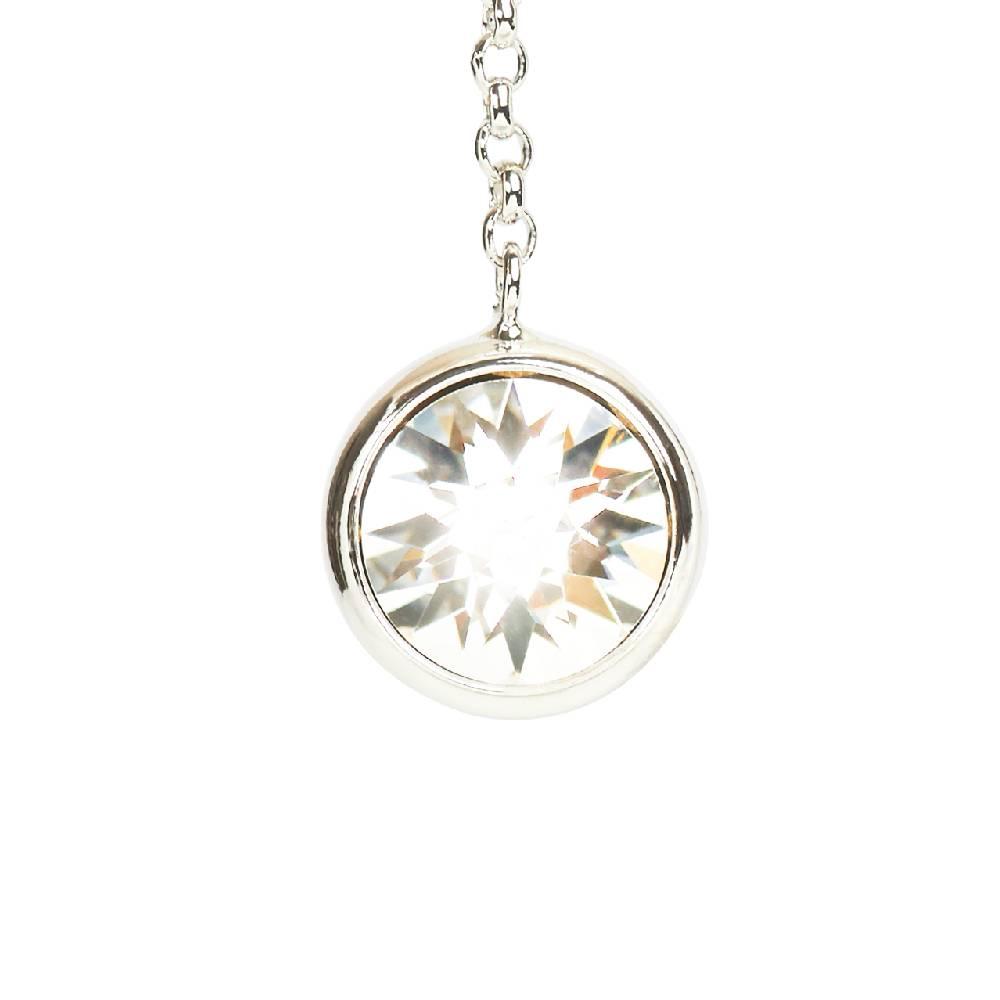 DEMI Collection Ohrringe Thunderball, weiß - Weißgold vergoldet