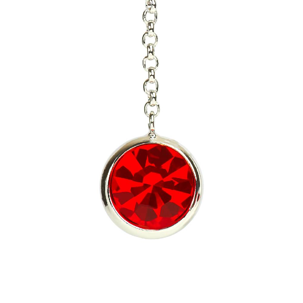 DEMI Collection Ohrringe Thunderball, rot - Weißgold vergoldet