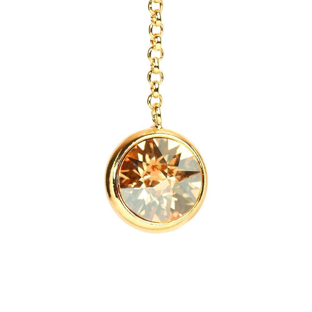 DEMI Collection Ohrringe Thunderball, golden shadow - Gelbgold vergoldet