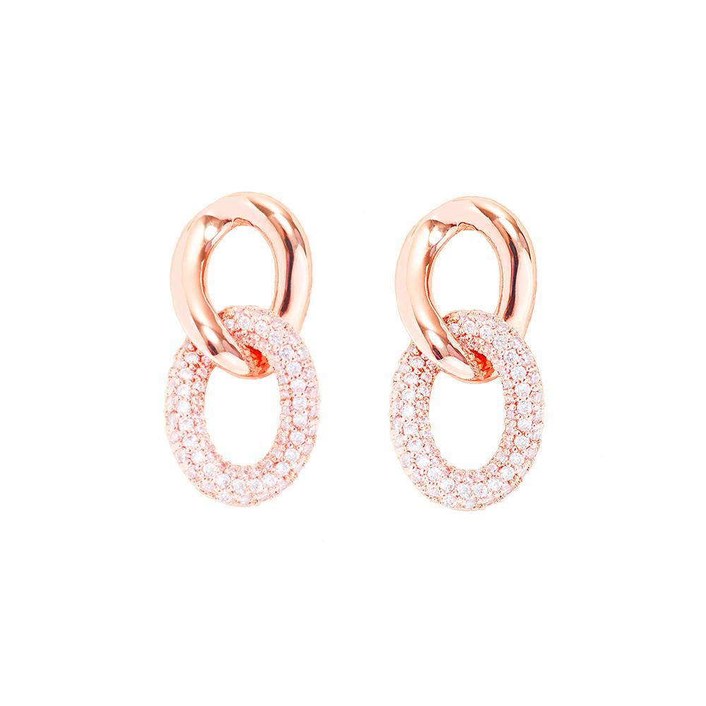 Stella-Bijou Ohrringe Loop - rosé