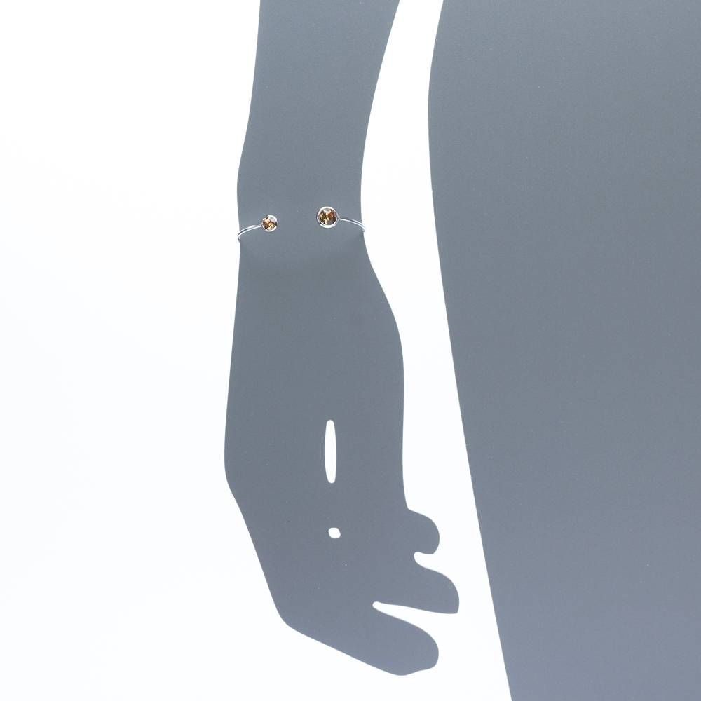 Armreif Punto topas - Weißgold vergoldet