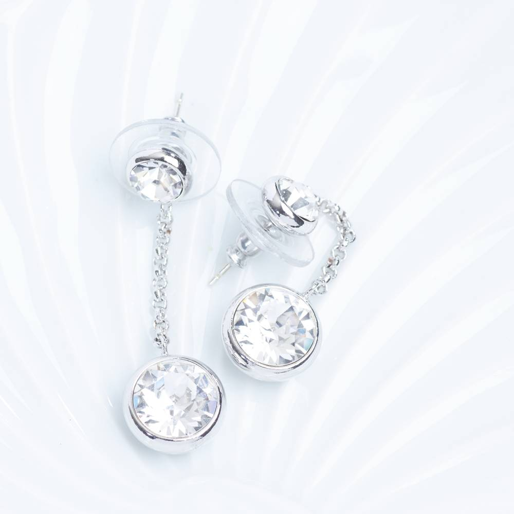 DEMI Collection Ohrringe/Ohrstecker Thunderball Mini weiß