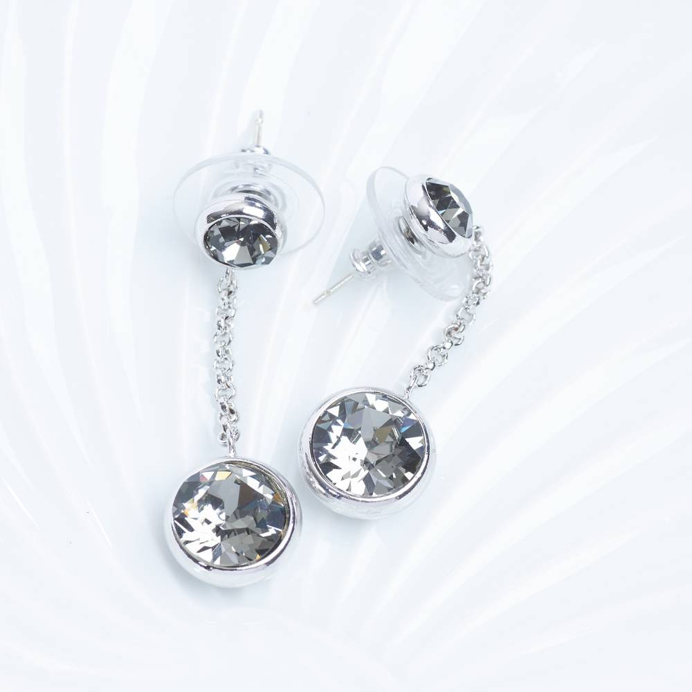 DEMI Collection Ohrringe /Ohrstecker Thunderball Mini grau