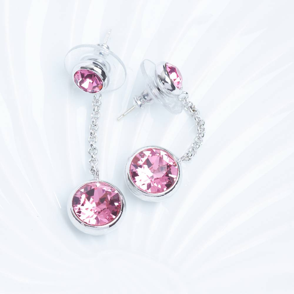 DEMI Collection Ohrringe/Ohrstecker Thunderball Mini rosa