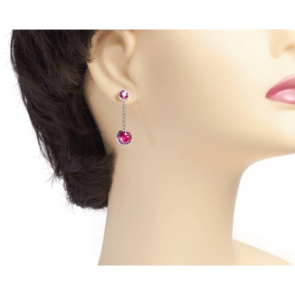 DEMI Collection Ohrringe/Ohrstecker Thunderball Mini pink