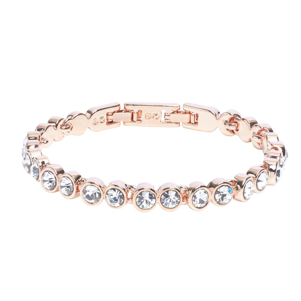 Stella-Bijou Tennisarmband roségold/weiß