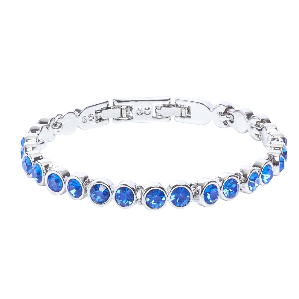 Stella-Bijou Tennisarmband blau