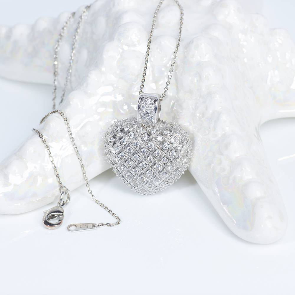 Stella-Bijou Halskette Fiona in Silber