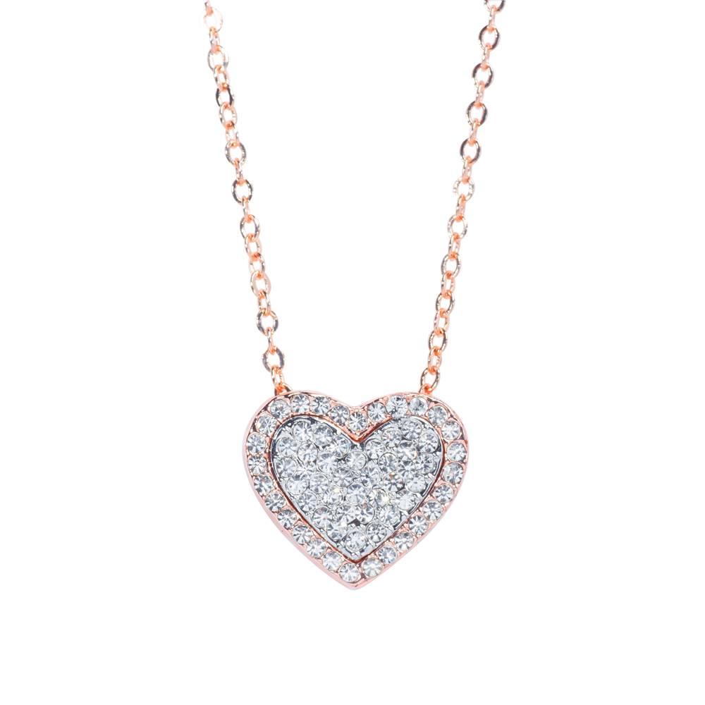 Halskette Mon coeur weiß