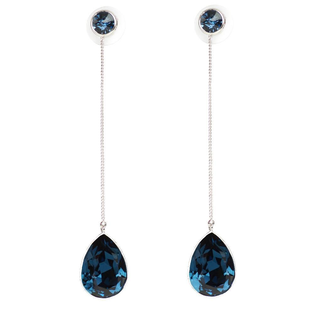 DEMI Collection Ohrring Raindrop, dunkelblau