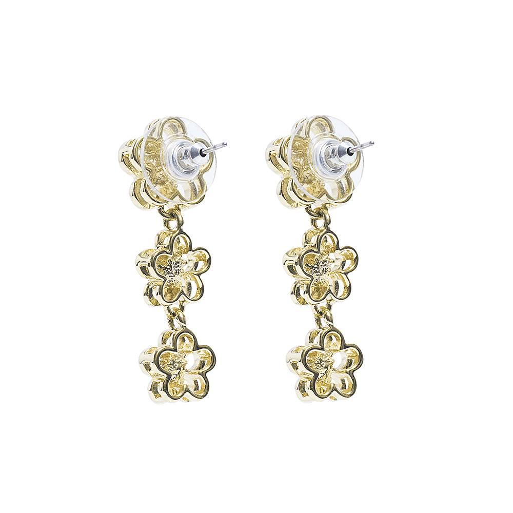 Stella-Bijou Ohrringe Tre fiori - gold