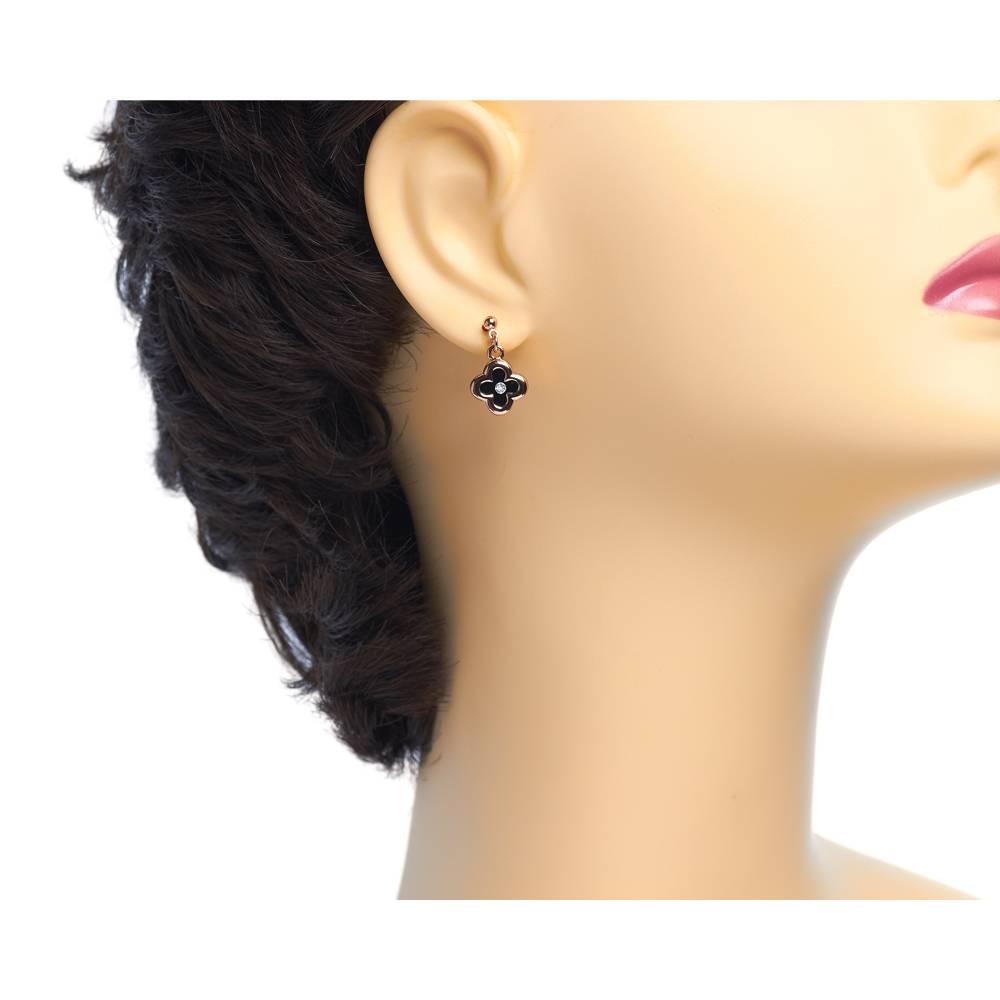 Ohrringe Klee - Roségold vergoldet