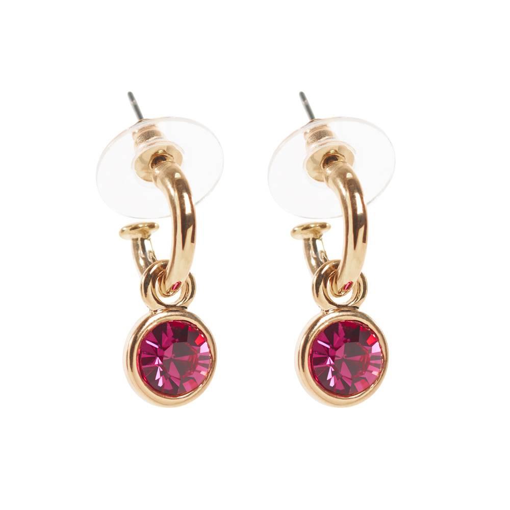Stella-Bijou Tennis Ohrringe gold/pink