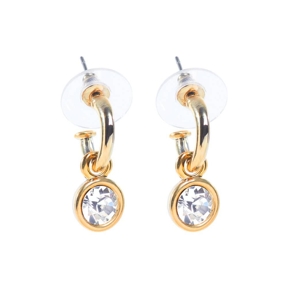 Tennis Ohrringe gold/weiß