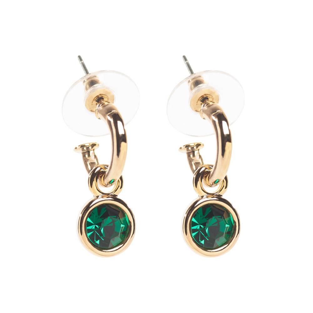 Tennis Ohrringe gold/grün