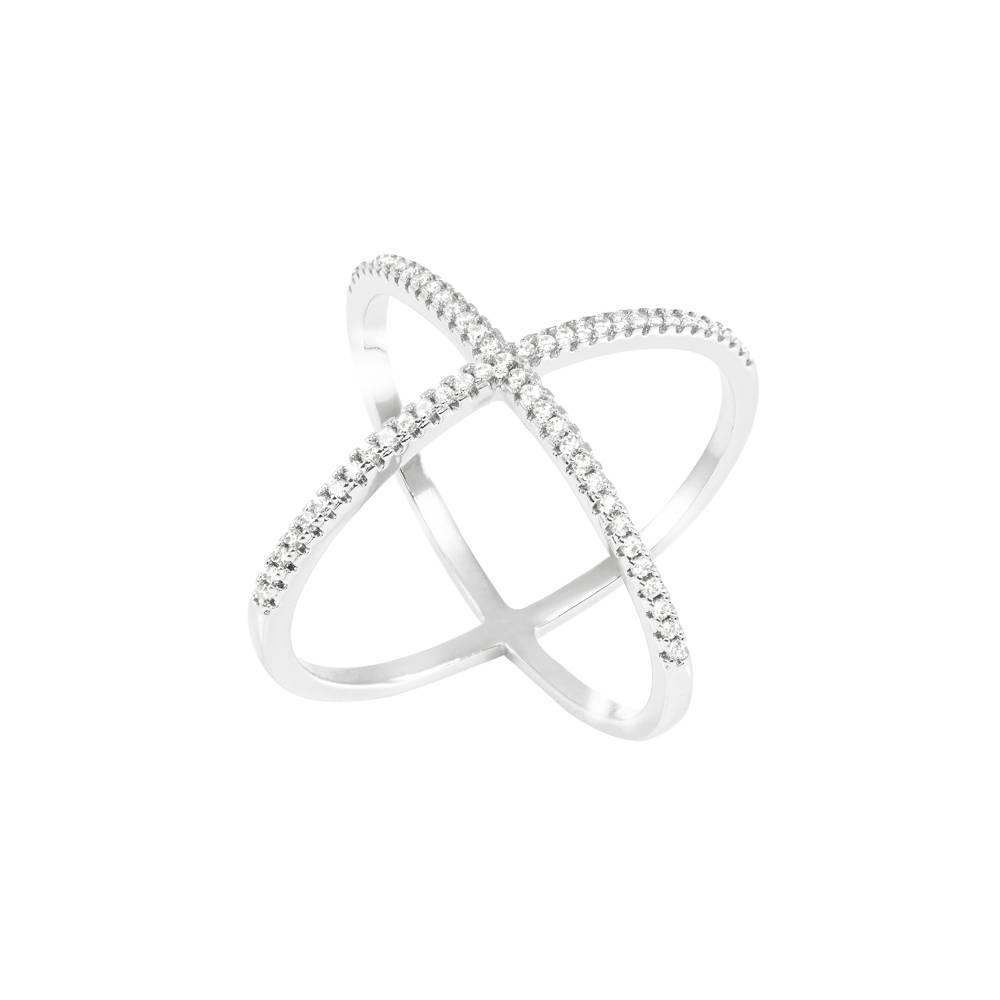 Stella-Bijou Ring Uranus, weiß