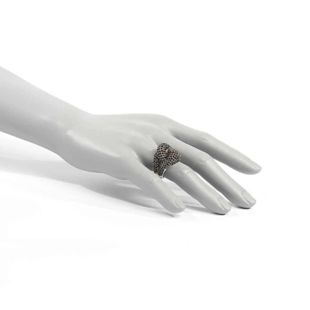 Stella-Bijou Ring Pompidou schwarz