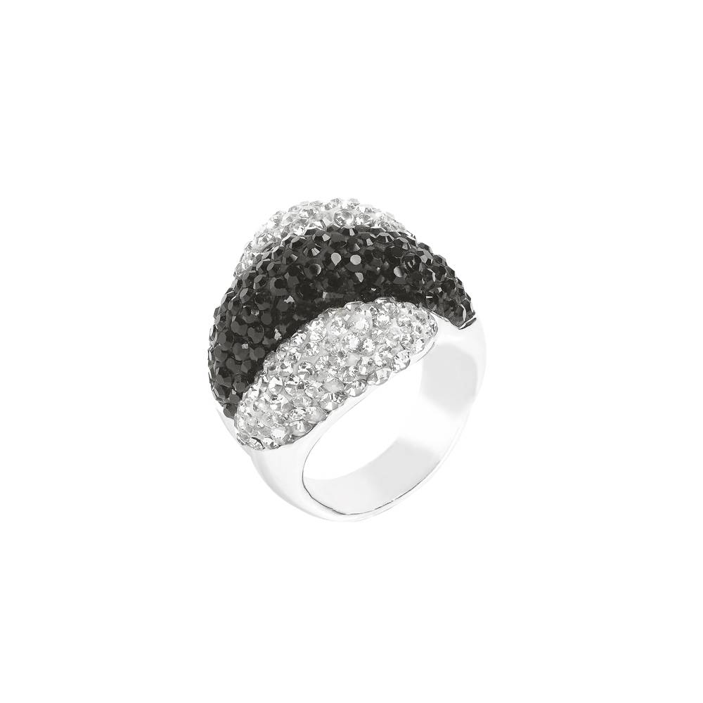 Stella-Bijou Ring Palazzo grau-schwarz