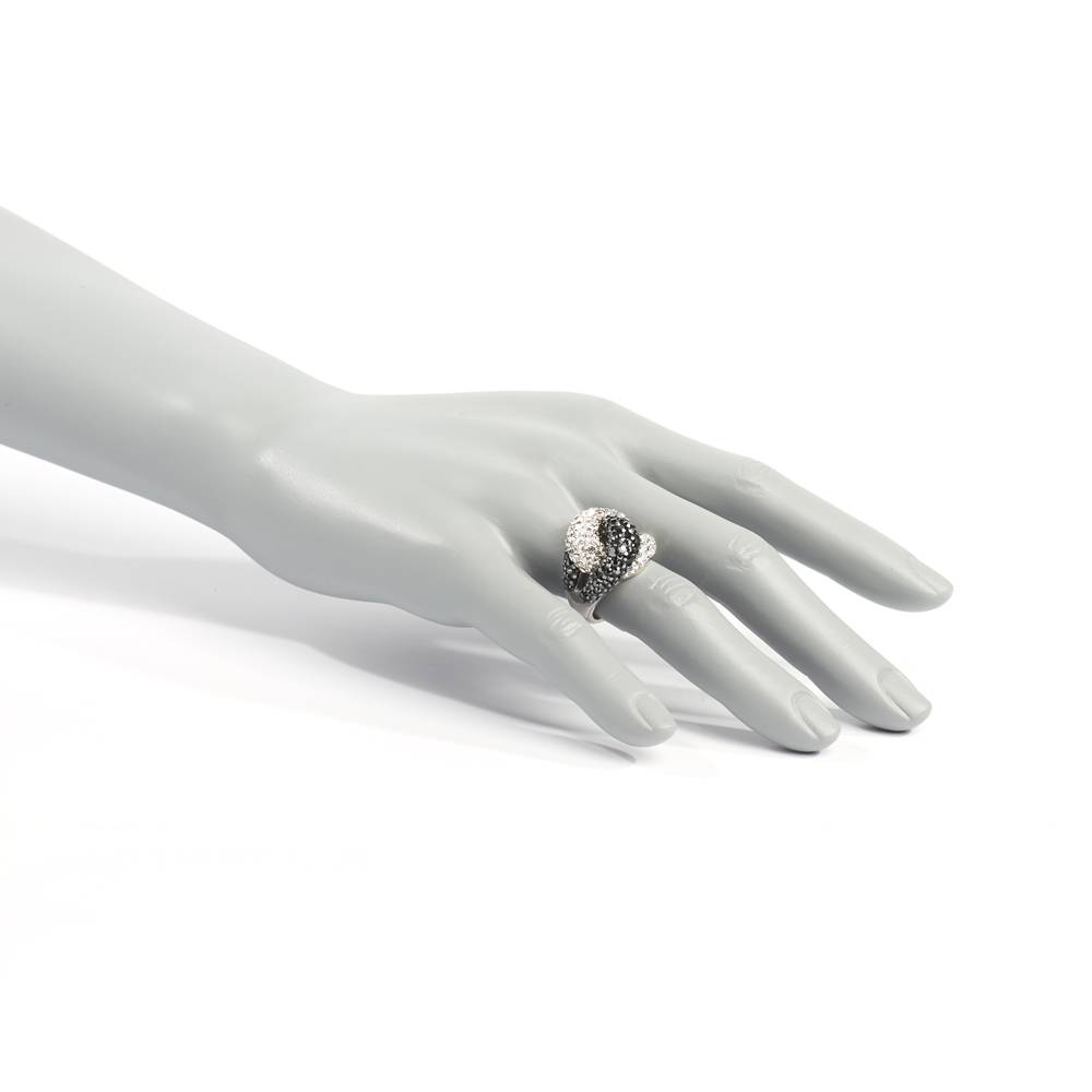Stella-Bijou Ring Hollywood schwarz