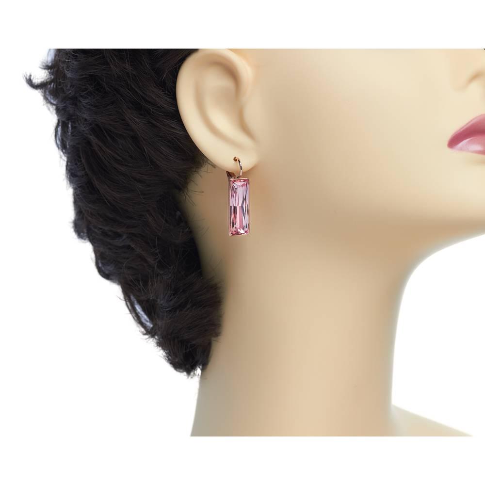 DEMI Collection Ohrringe Dancer - Roségold und rosa