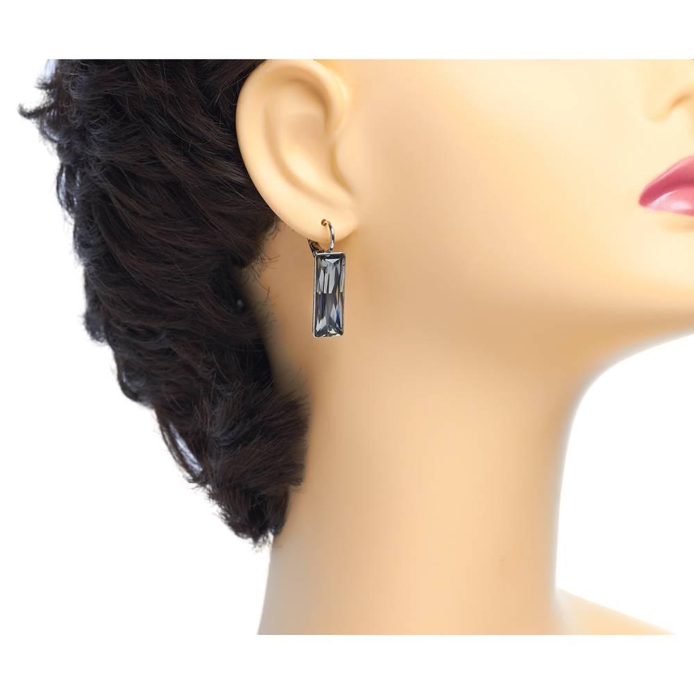 DEMI Collection Ohrringe Dancer - Weißgold und grau