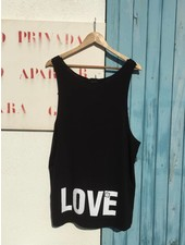 UNISEX DEEP CUT BEACH SHIRT 'LOVE'