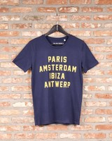 CITIES SHIRT (blue/yellow)