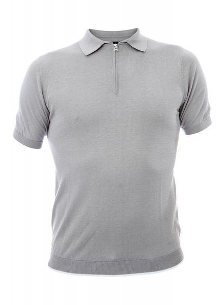 Corneliani  Polo Grey with Print