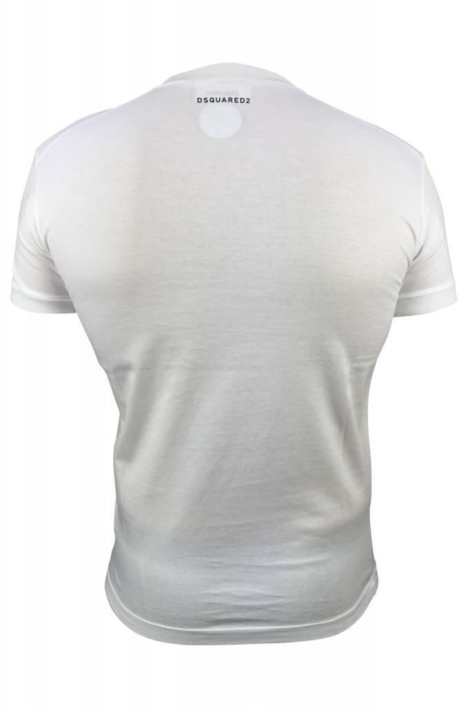 Dsquared2 Dsquared2 White V-Neck T-shirt