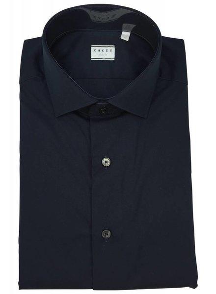 Xacus Xacus Dress Shirt Slim Dark Blue
