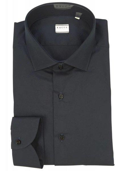 Xacus Xacus Dress Shirt Tailor Dark Blue
