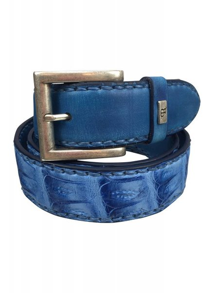 Plácido de la Rosa Placido de la Rossa Belt Croco Mix Blue