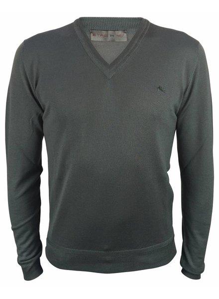 Etro V-Neck Pullover Grey
