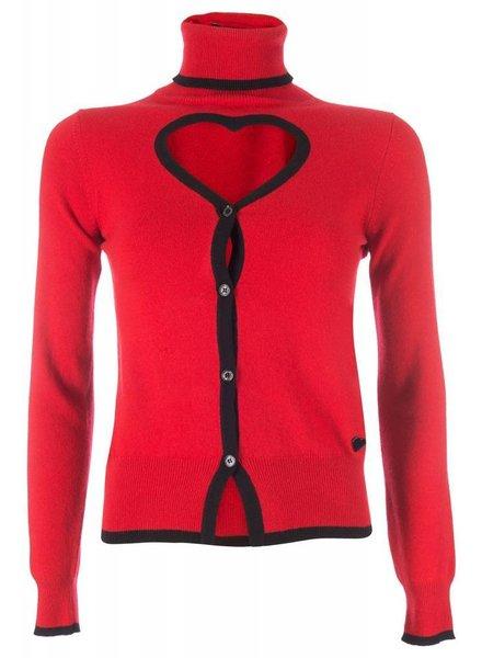 Love Moschino Love Moschino Turtleneck red/black