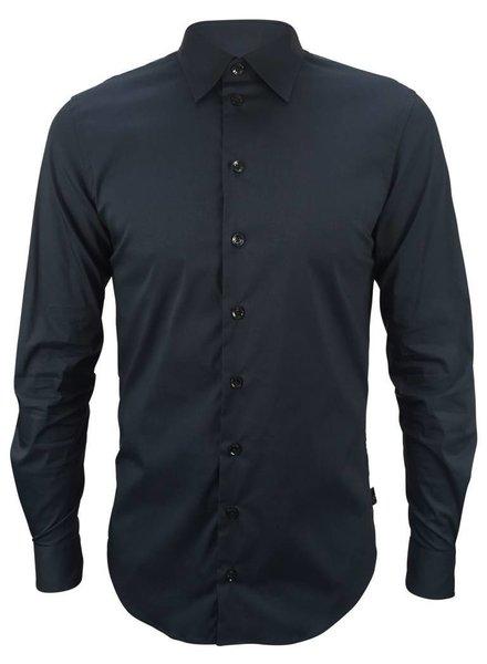 Armani Collezioni Stretch Shirt Donkerblauw Armani Collezioni
